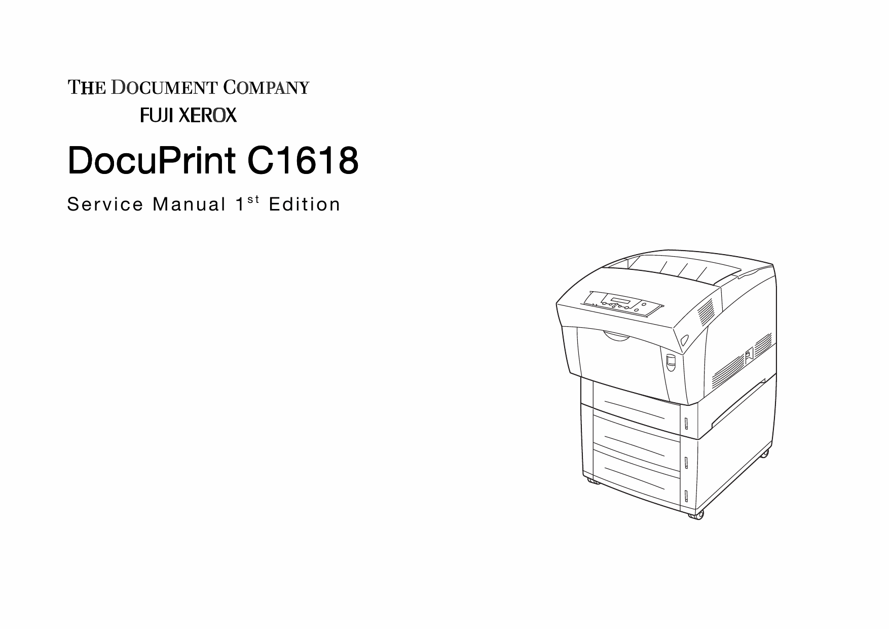 Xerox DocuPrint C1618 Fuji Color Laser Printer Parts List
